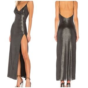 NWT h:ours Rey Dress in Gunmetal